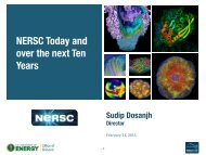 NERSC Today and over the next Ten Years