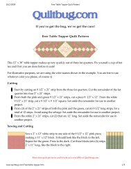 Free Table Topper Quilt Pattern - Quilting Board