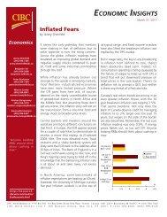 ECONOMIC INSIGHTS - CIBC World Markets