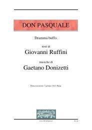 Don Pasquale - Fulmini e Saette