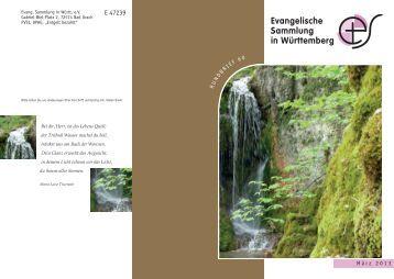 März 2013 - Evangelische Sammlung in Württemberg