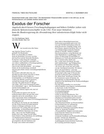 FINANCIAL TIMES DEUTSCHLAND - German Scholars Organization
