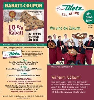 Jubi-Newsletter_03-2011 - Bäckerei Dietz