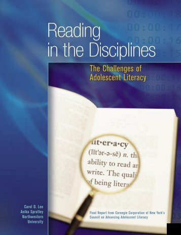 Reading in the Disciplines - Carnegie Corporation of New York