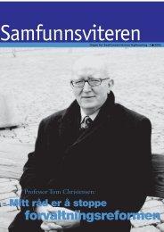 Samfunnsviteren 1/2002 - Samfunnsviterne