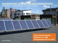 Kokemuksia ja esimerkkejä aurinkosähköasennuksista