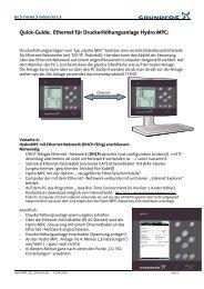 Quick-Guide: Ethernet für Druckerhöhungsanlage Hydro ... - Grundfos
