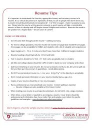 Resume Tips - College of Business