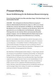 Fahrzeugübergabe - Zweckverband Bodensee-Wasserversorgung