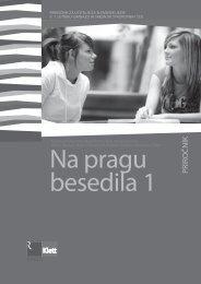 Na pragu besedila 1 (posodobljena izdaja) - priročnik ... - Srednja.net