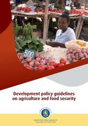 Development policy guidelines on agriculture and food security
