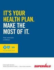 Plan overview - Blue Cross and Blue Shield of Minnesota