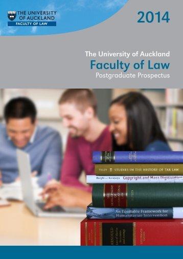 Law Postgraduate Prospectus 2014 - Faculty of Law - The University ...