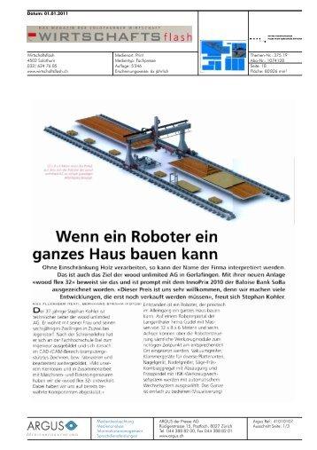 Wenn ein Roboter ein - Hochschule für Architektur, Holz und Bau AHB