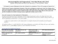 Advanced Algebra and Trigonometry -‐ First N