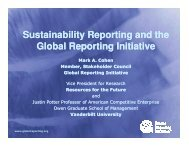Sustainability Reporting and the Global Reporting Initiative
