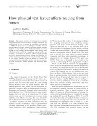 How physical text layout affects reading from screen - nocookie.net