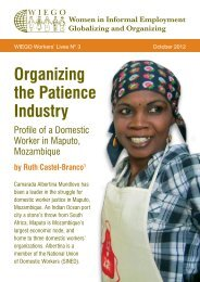 Organizing the Patience Industry: Profile of a Domestic ... - WIEGO