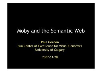 Moby and the Semantic Web - casimir