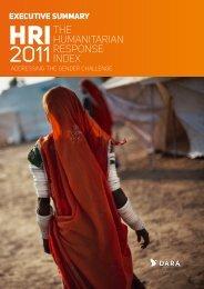 Humanitarian Response Index 2011 Executive Summary - DARA