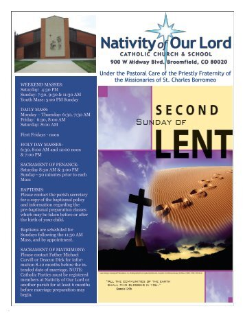 March 4, 2012 - Nativity of Our Lord
