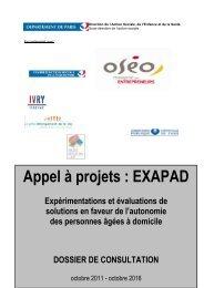 Appel à projets EXAPAD - Mairie de Paris