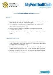MFC Manual - New Registrations Over 18s - MyFootballClub