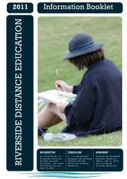 Information Booklet - Riverside Christian College