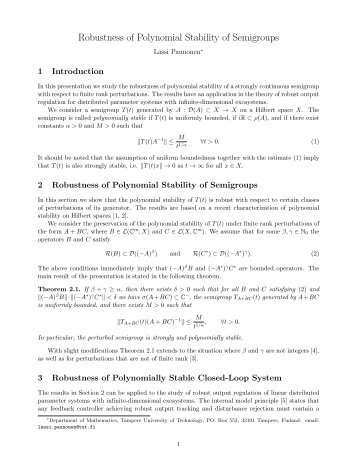 Robustness of Polynomial Stability of Semigroups