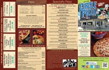 Circle Pizza Menu - Onepager