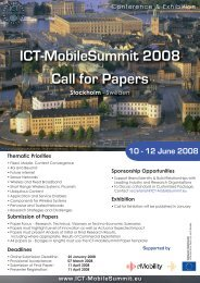 ICT-MobileSummit 2008 Call for Papers - Future Network & Mobile ...