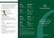 The 'Managing People' Seminar Series - Charles Russell