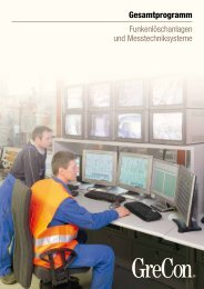 Funkenlöschanlagen und Messtechniksysteme - GreCon