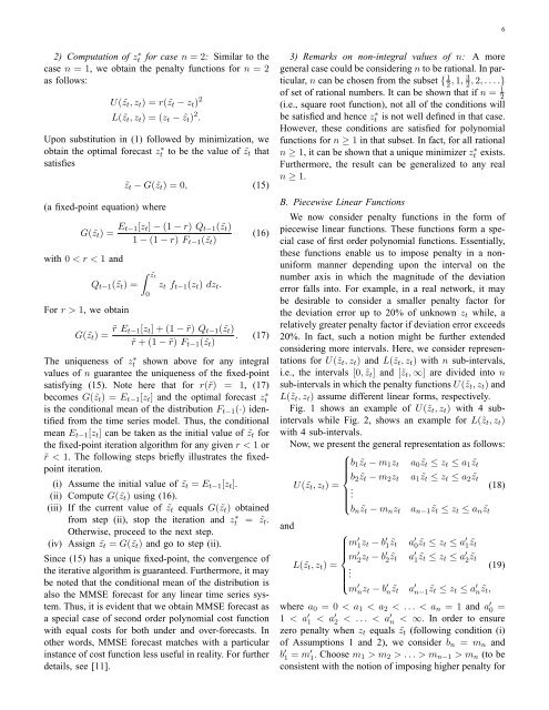 Generalized Cost Function Based Forecasting for Periodically ...