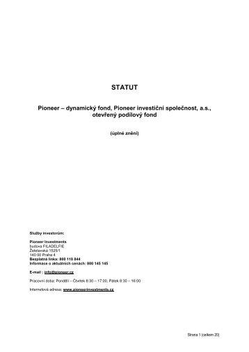 Statut fondu (PDF) - Pioneer Investments