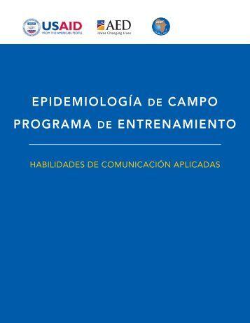 EPIDEMIOLOGÍA DE CAMPO PROGRAMA DE ENTRENAMIENTO