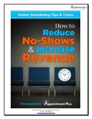 How to Increase Revenues by - Appointment-Plus