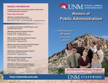 Public Administration - UNM Statewide