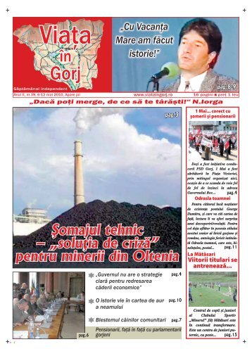 """Şomajul tehnic – """"soluţia de criză"""" pentru minerii din ... - Viata in Gorj"""