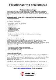 Försäkringar vid arbetslöshet - IF Metall