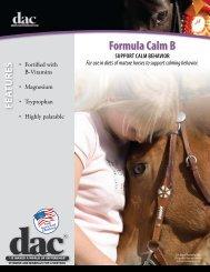 Formula Calm B Data Sheet - Direct Action Company