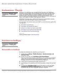 Synchronisieren – Übersicht Einrichten von Intellisync - Cexp.org