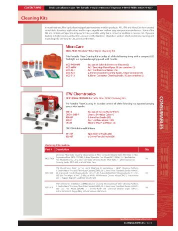 Catalog Page - Cleaning Kits - Fiber Optic Center, Inc.