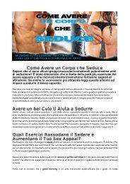 Come Avere un Corpo che Seduce Avere un bel ... - Ultimate Italia
