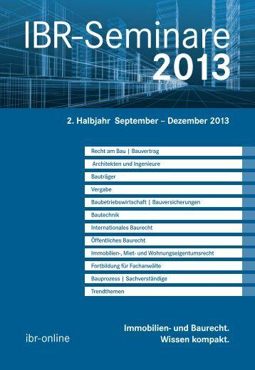 2. Halbjahr 2013 - ibr-online