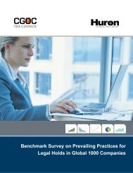 Benchmark Survey on Prevailing Practices for Legal Holds in Global ...