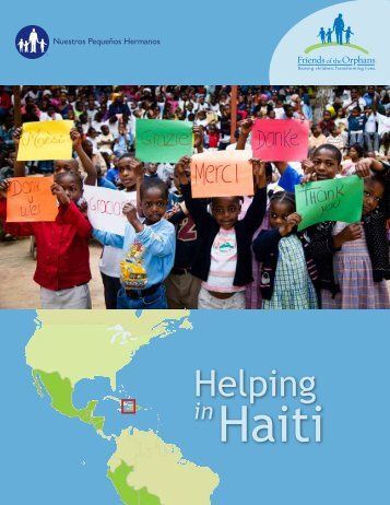 Helping in Haiti Report (PDF) - Friends of the Orphans