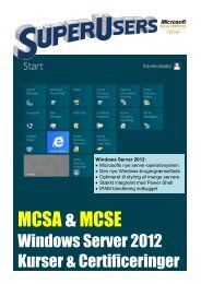Windows Server 2012 Kurser & Certificeringer - SuperUsers a/s