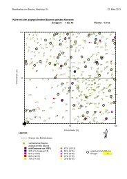 Karte mit den angezeichneten Bäumen gemäss Konsens ... - Prosilva