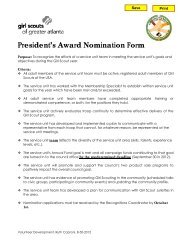 President's Award Nomination Form